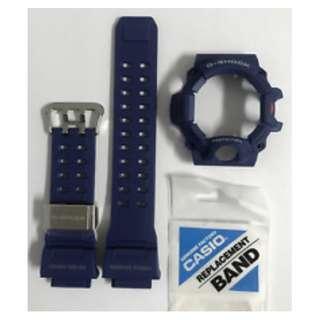 GENUINE NEW Casio G-Shock BLUE Rangeman band and Bezel GW-9400NV-2