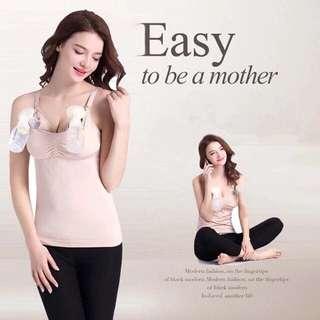Maternity handsfree breast pump bra