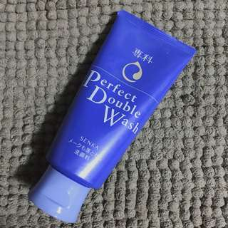 SENKA Shiseido Perfect Double Wash Makeup Remover Cleanser 120g