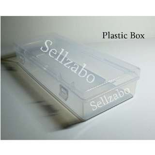 Storage See Through White Clear Plastic Box Cases Casings Holders Boxes Rectangle Sellzabo