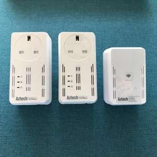 Aztech Wifi Extender Homeplug AV
