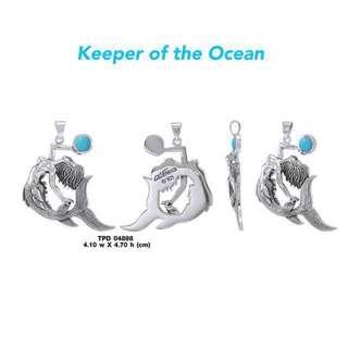 DiveSilver Mermaid Pendant