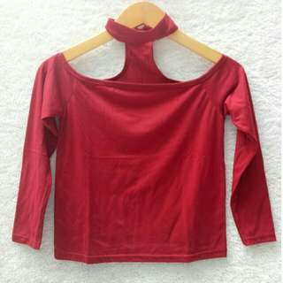 Turtle neck red long