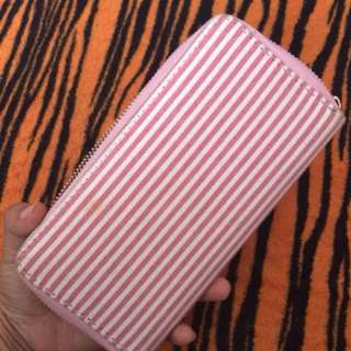 Long wallet (pink stripe)