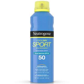 NEUTROGENA Cool dry Sport Sunscreen Spray Broad Spectrum SPF 50 Helioplex Water resistant