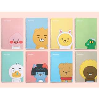 preorder: KAKAO FRIENDS lined notebook set