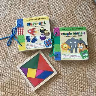Animal and numbers puzzle books