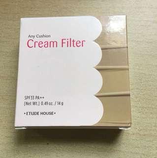Etude house any cushion cream filter