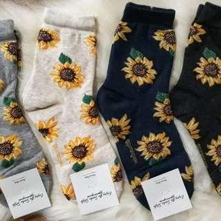 Korean Socks- Sunflower