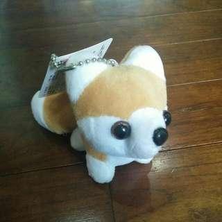 Little Husky Keychain (Brown)