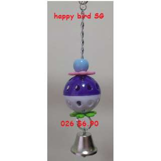 M2 026 Parrot Bird Small Animal Pet Hanging Charm Chewing Ball Bell Toy