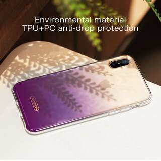 iPhone X Azure 系列保護套 保護殼 ( 紫色 ) 送全屏黑色絲印保護貼 Joyroom Azure Series Full Protection Mobile Cover case For iPhone X ( Purple ) ,  Free Full Coverage Premium 9H Hardness Tempered Glass Film Screen Protector ( Black Screen Print ) For iPhone X