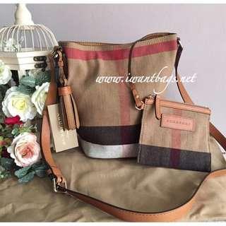 Burberry Mini Ashby Crossbody Bag-Saddle Brown