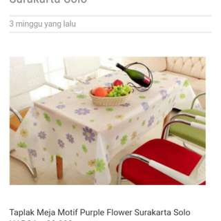 Taplak meja motif purple
