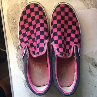 Vans Checkerboard Pink and Black not Nike Adidas New Balance Sperry