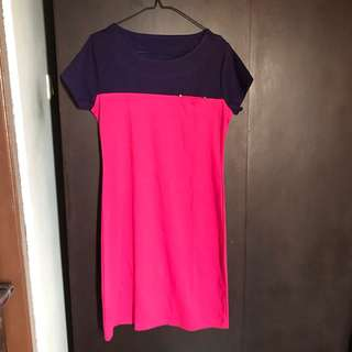 Purple pink dress