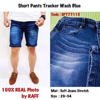 Short Pants Tracker Wash Blue