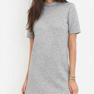 Forever 21 Mock Grey Dress F21