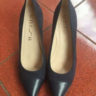 Unisa suede dark blue shoes