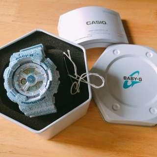 Casio baby G BA110 淺藍色99%新