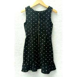 Polkadot black dress