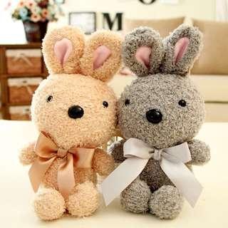 (PO) Little Couple Bunny Rabbit Soft Mini Plush Huggable Valentine/Birthday Gift