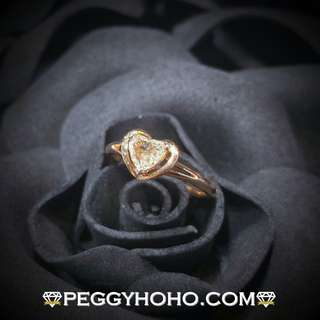 【Peggyhoho】全新18K玫瑰金單粒46份心型鑽石戒指|心形系列 |Heart shaped Diamond