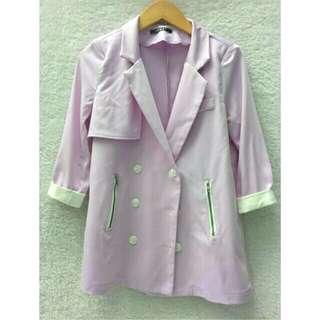 Purple white blazer