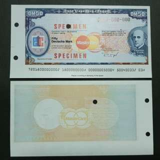 Specimen Euro Travellers Cheque Germany DM50 🇩🇪 !!!