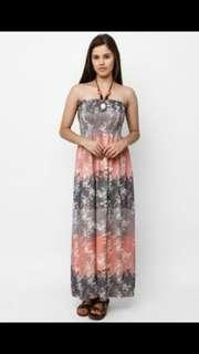 Dress, Schiffon maxidress dan mini cardigan