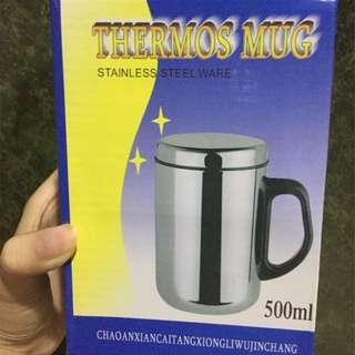 Thermos Mug Stainless Steel / Termos 500ml (Hot and Cold)