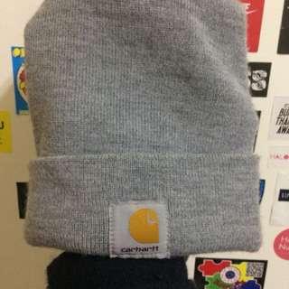 Carhartt灰色毛帽