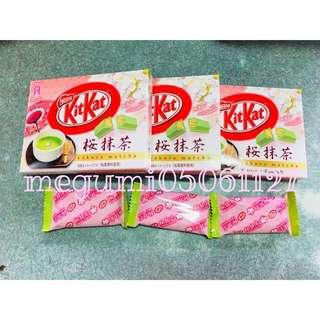 日本限定 KitKat 巧克力 抹茶 櫻抹茶