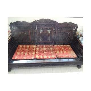A10-八十年代中国套庄花梨木沙发.