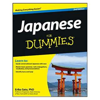 Japanese For Dummies 2nd Edition BY Eriko Sato