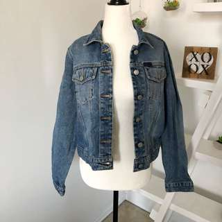 Vintage 90s Ralph Lauren Polo Jeans Denim Jacket Size Large Medium Wash