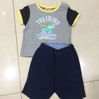 Boys Set- Poney Shirts And H&M Pants 18-24 Months