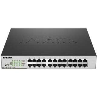 D-Link DGS-1100-24P 24-Port Gigabit Smart Managed Rackmount Switch including 12 PoE+ Ports