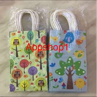Owl, birds printing paper bag - goody bag