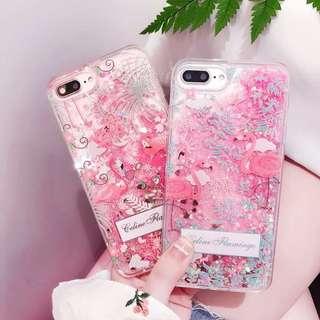 流沙紅鶴 flamingo iphone case 6/6s/6p/7/7p/8/8p/x 手機殻