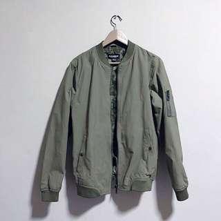 Pull & Bear Olive Bomber Jacket