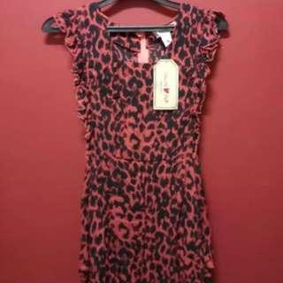 Lanvin x H&M pink leopard dress