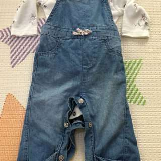 Mothercare overall and bodysuit