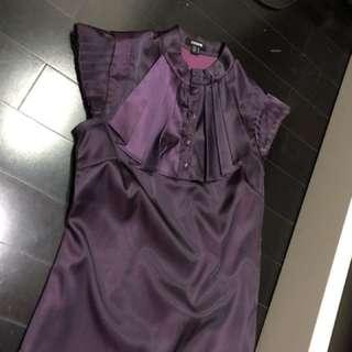 Top purple silk