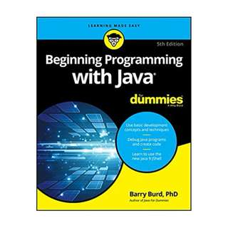 Beginning Programming with Java For Dummies (For Dummies (Computer/Tech)) 5th Edition BY Barry A. Burd (Author)