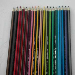 19 staedler coloured pencils