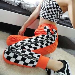 Orange Checkered Pants