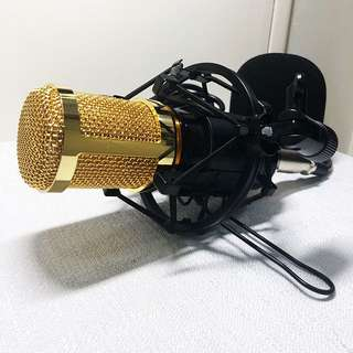 Condenser Sound Recording Mic with Shock Mount