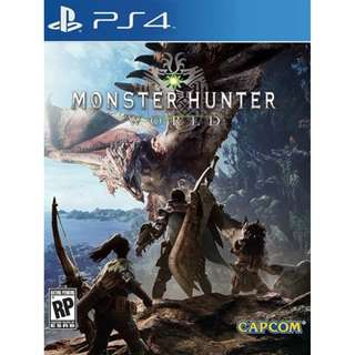 BRAND NEW Authentic R3 PS4 Sony Monster Hunter World PlayStation 4 Game CD Gaming Play Station