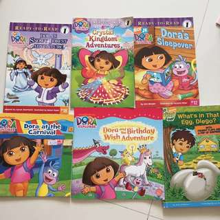 Assorted Dora books